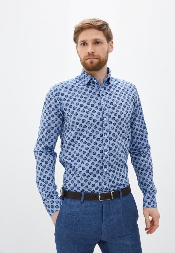 мужская рубашка с длинным рукавом sand, голубая