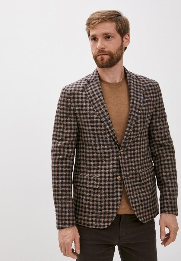 мужской пиджак sand, коричневый