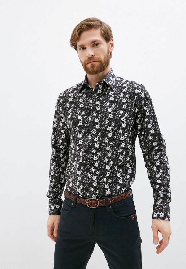 мужская рубашка с длинным рукавом sand, черная