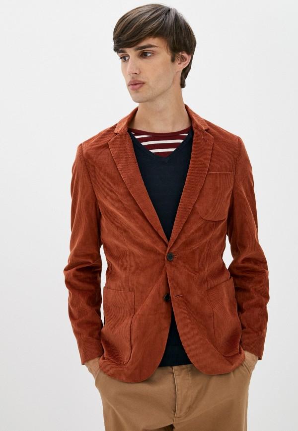 мужской пиджак scotch&soda, коричневый