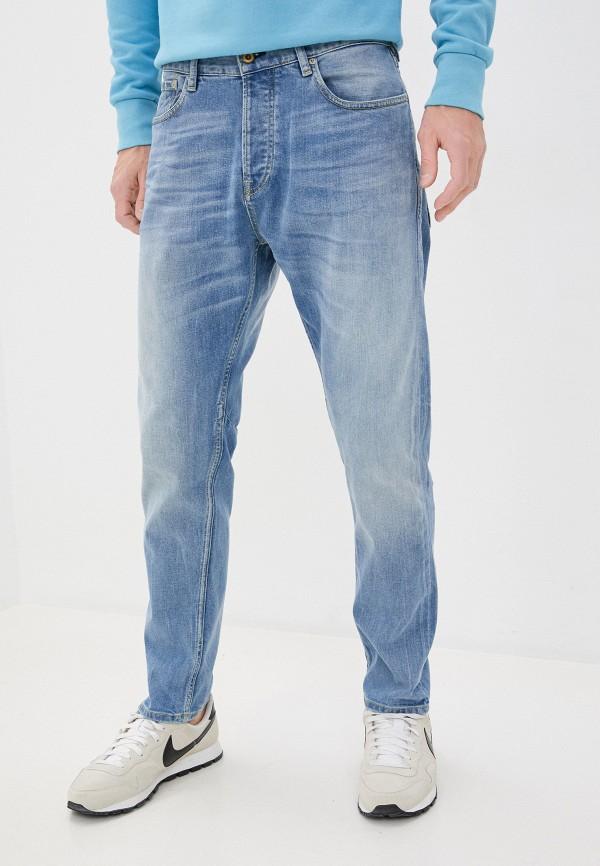 мужские зауженные джинсы scotch&soda, голубые