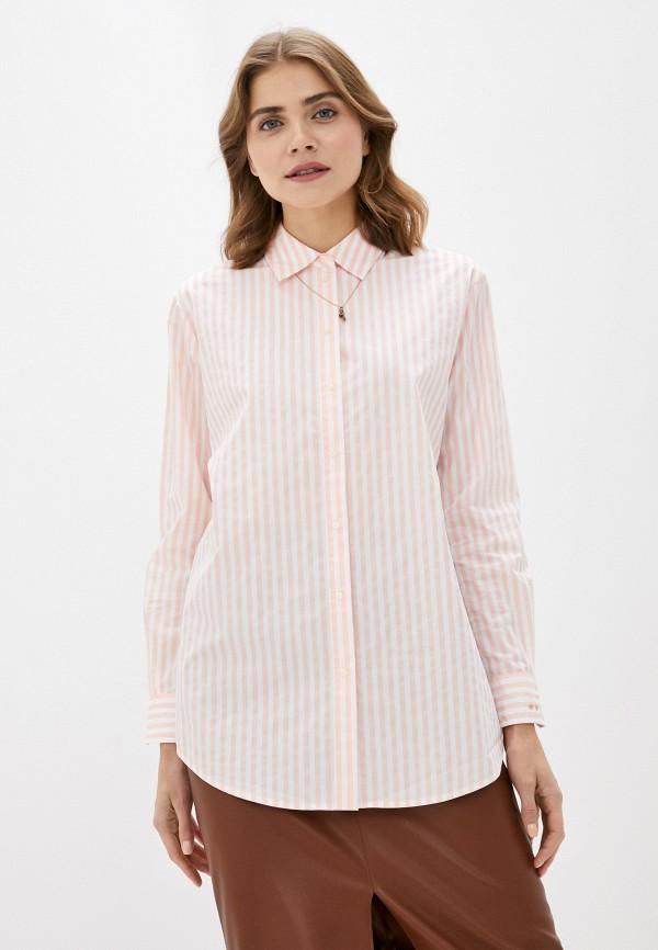 женская рубашка с длинным рукавом scotch&soda, розовая