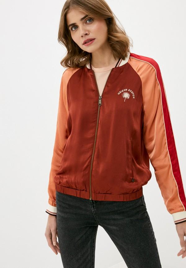 женская куртка scotch&soda, бордовая