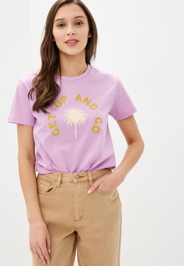 женская футболка scotch&soda, фиолетовая