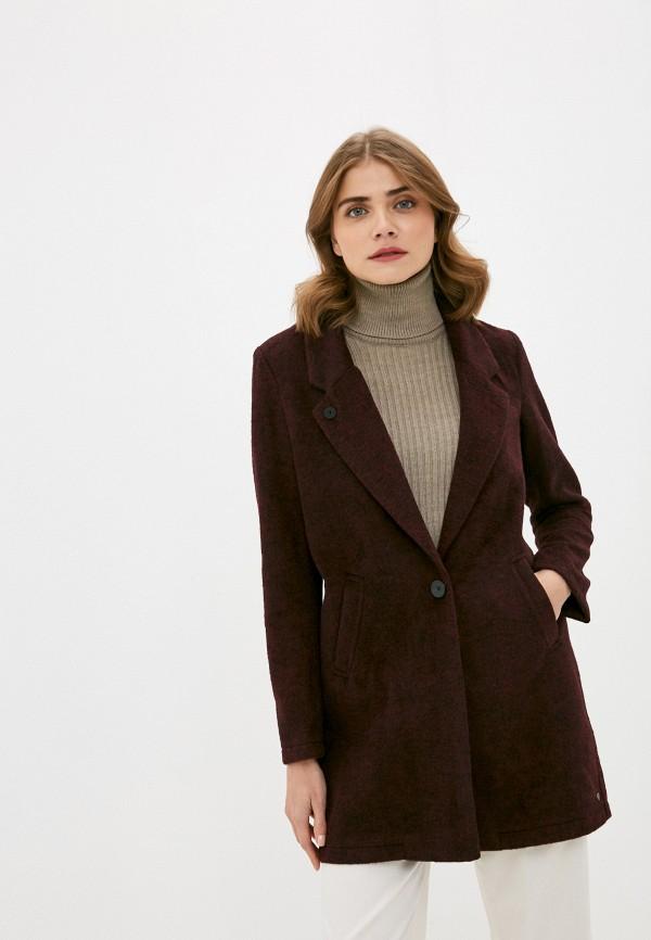 женское пальто scotch&soda, бордовое