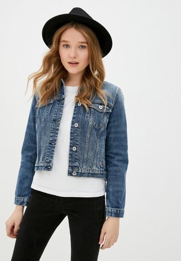 женская джинсовые куртка scotch&soda, синяя