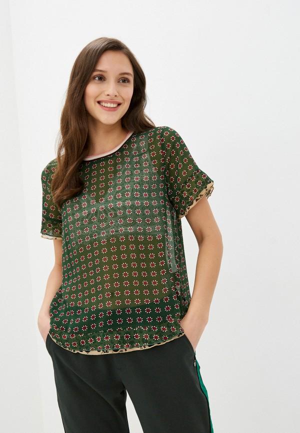 женская блузка scotch&soda, зеленая