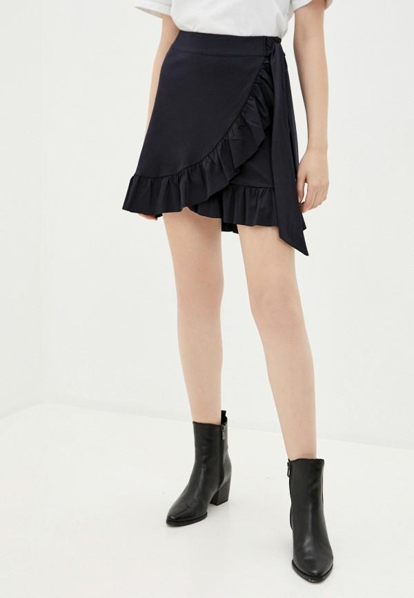 женская прямые юбка scotch&soda, синяя
