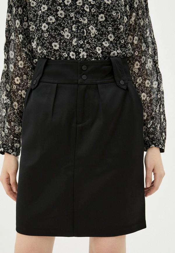 женская прямые юбка scotch&soda, черная