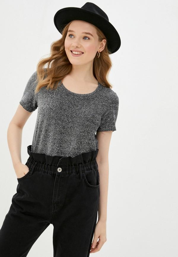 женская футболка scotch&soda, серебряная
