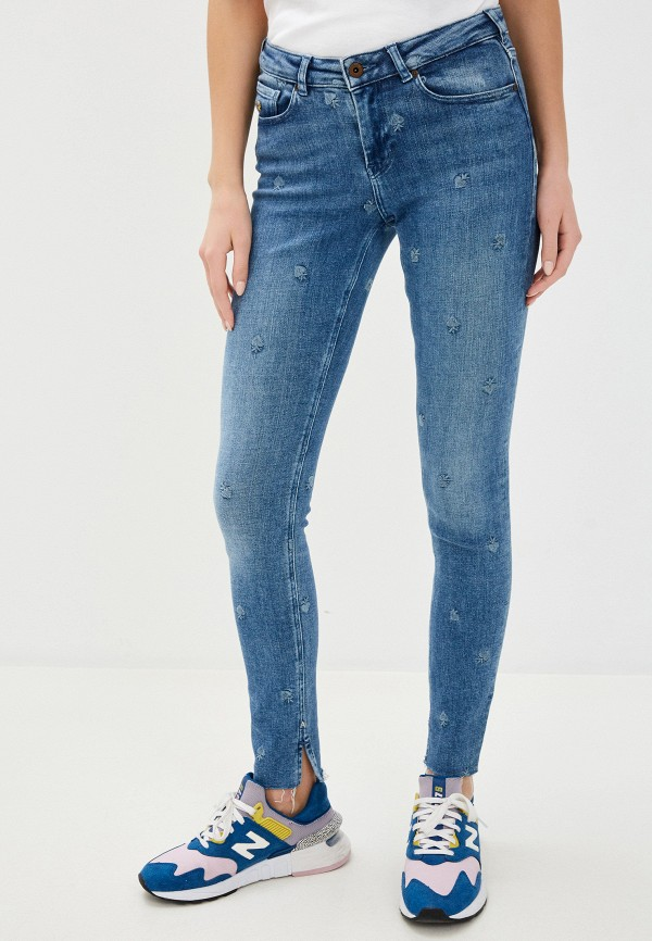 женские джинсы scotch&soda, голубые