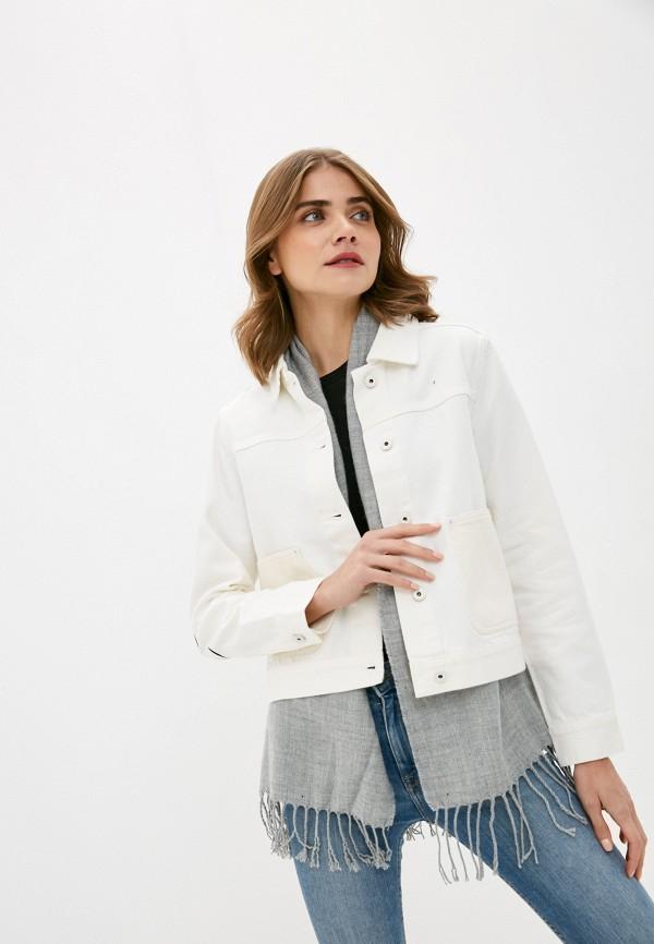 женская джинсовые куртка scotch&soda, белая