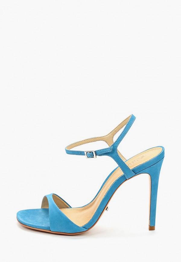 женские босоножки schutz, голубые