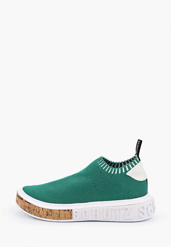 женские кроссовки schutz, зеленые