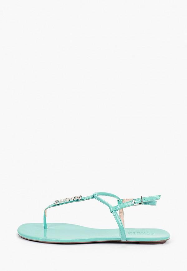 женские сандалии schutz, голубые