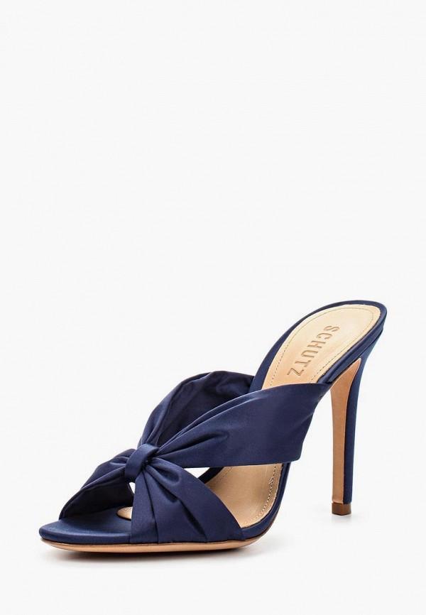 женское сабо schutz, синее