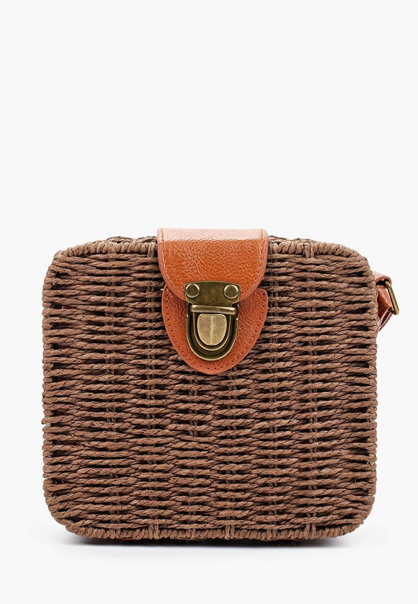 женская сумка через плечо sela, коричневая