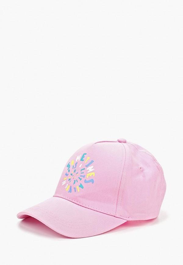 бейсболка sela для девочки, розовая