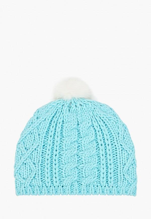 шапка sela для девочки, голубая