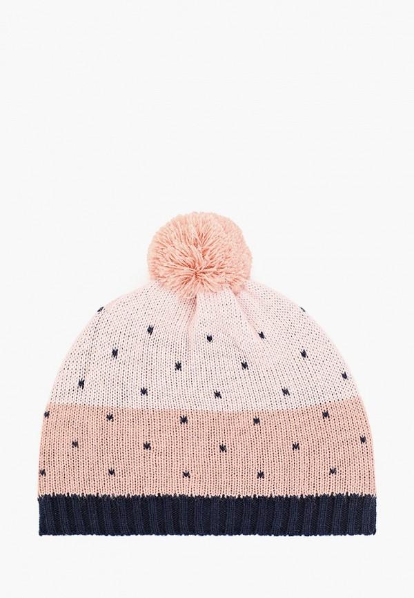 шапка sela для девочки, розовая