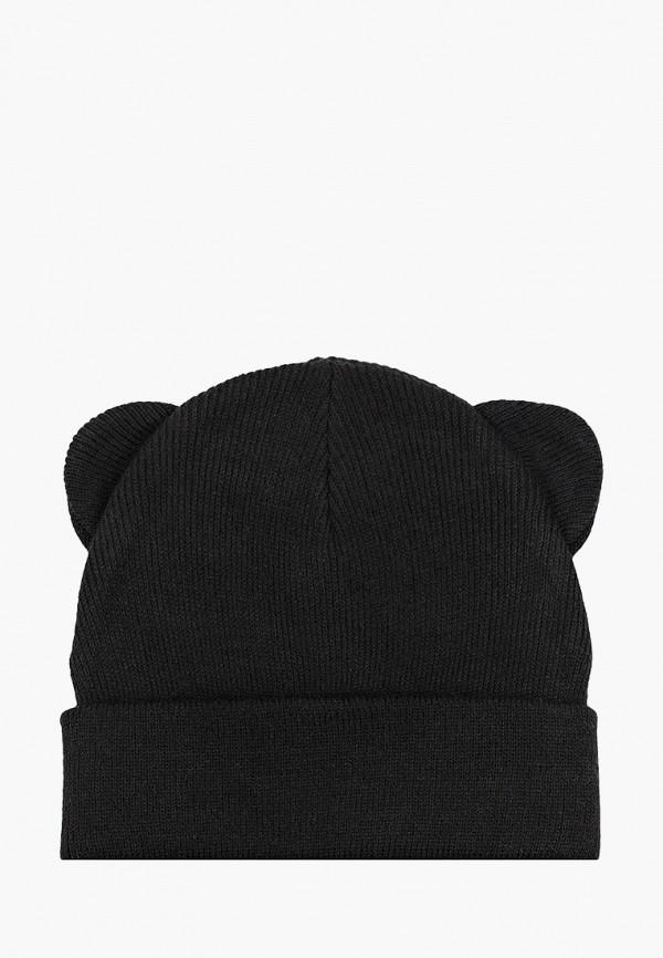 шапка sela для девочки, черная