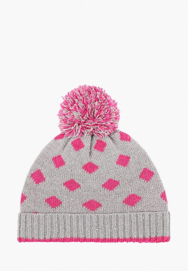 шапка sela для девочки, серая