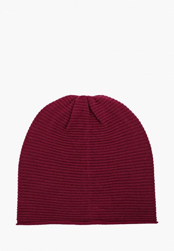 женская шапка sela, бордовая