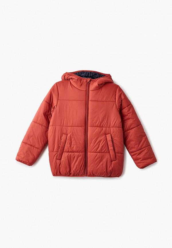 куртка sela для мальчика, оранжевая