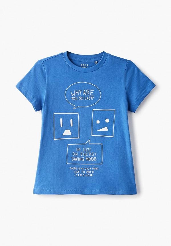 футболка с коротким рукавом sela для мальчика, синяя