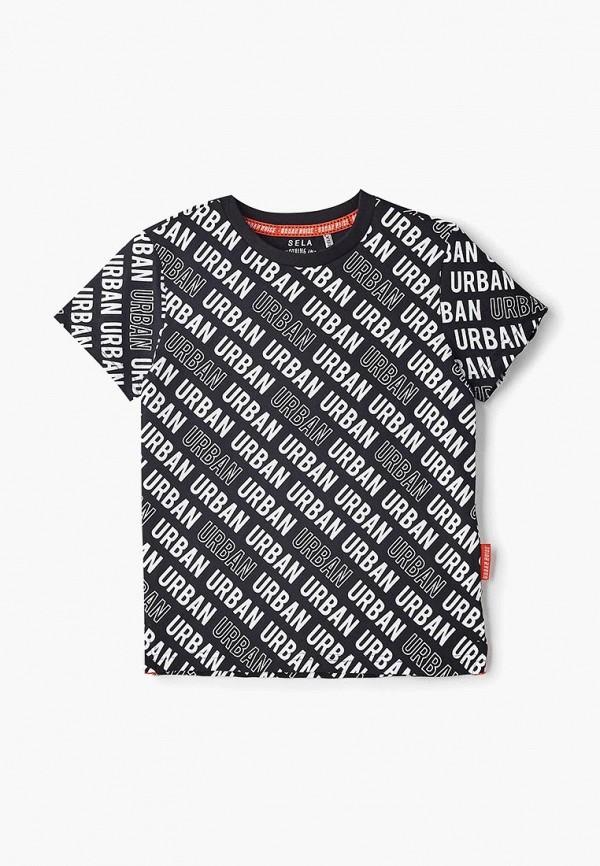 футболка с коротким рукавом sela для мальчика, черная
