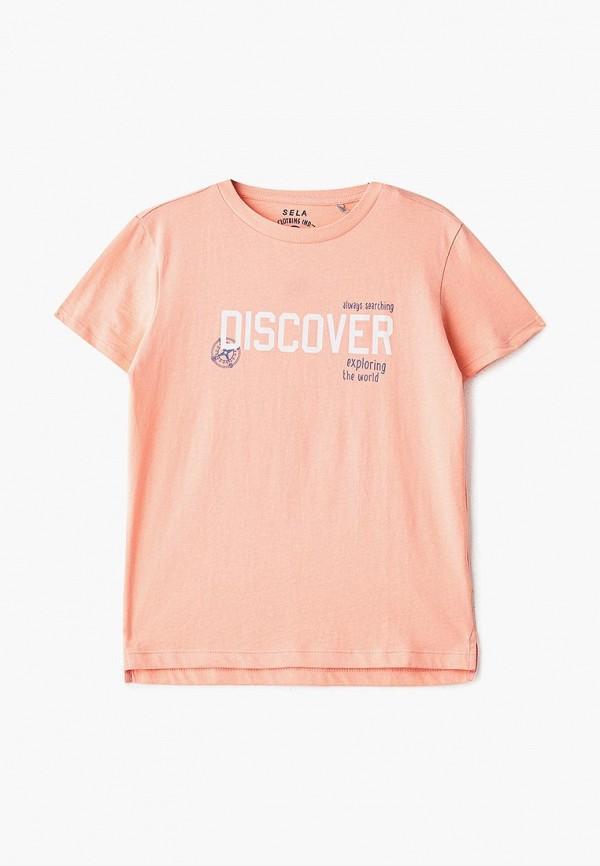 футболка с коротким рукавом sela для мальчика, оранжевая