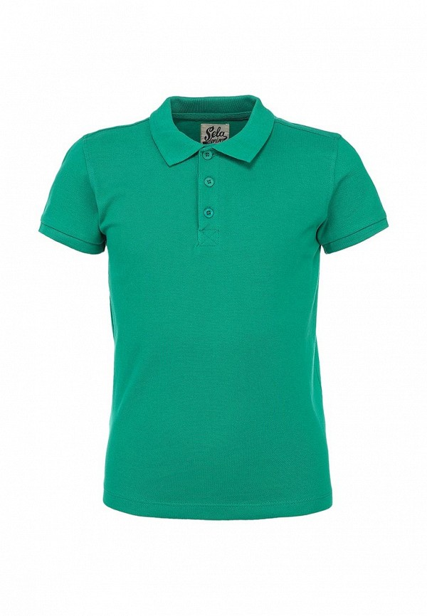 Фото - футболку или поло для мальчика Sela зеленого цвета
