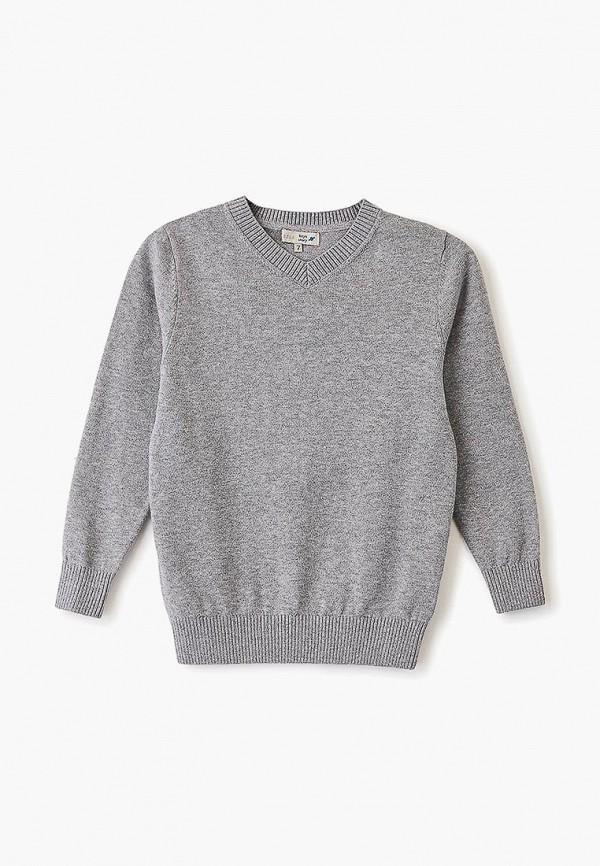 пуловер sela для мальчика, серый