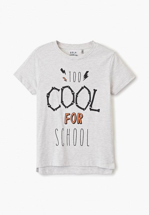 футболка с коротким рукавом sela для мальчика, серая