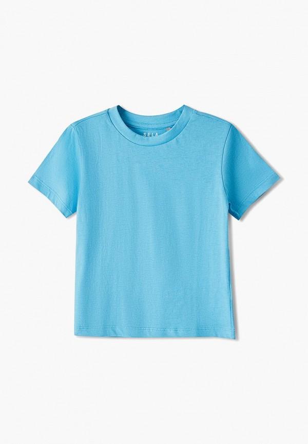 футболка с коротким рукавом sela для мальчика, голубая