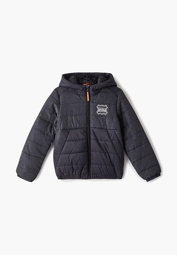 куртка sela для мальчика, черная