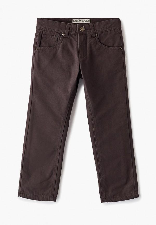 брюки sela для мальчика, коричневые