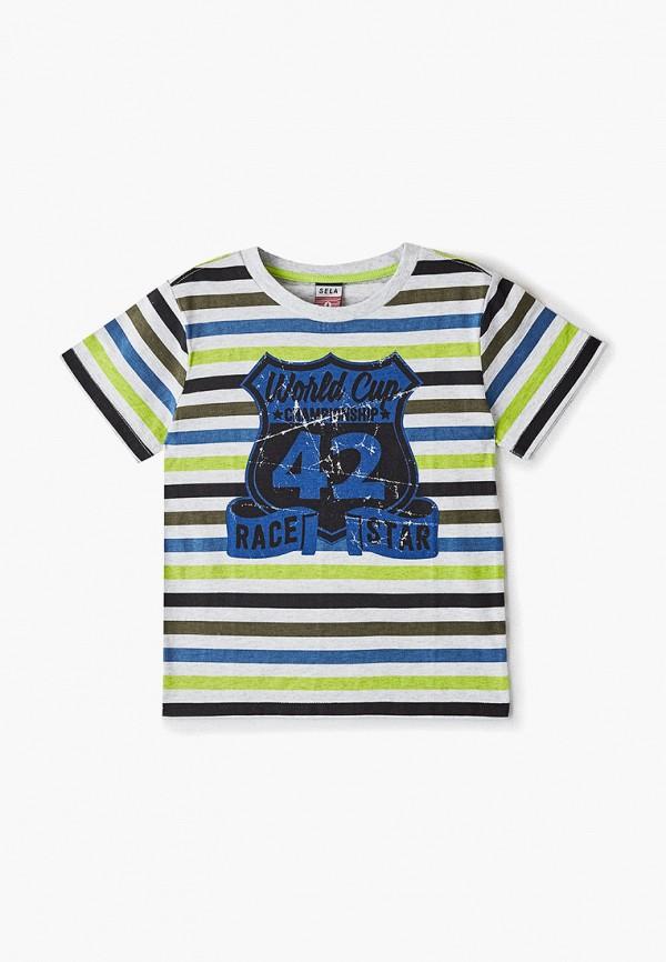 футболка с коротким рукавом sela для мальчика, разноцветная