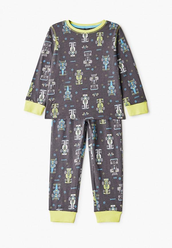 пижама sela для мальчика, серая