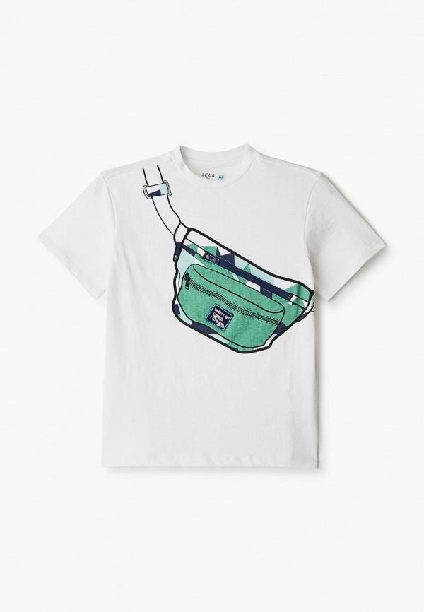 футболка с коротким рукавом sela для мальчика, белая