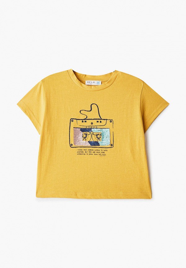 футболка с коротким рукавом sela для мальчика, желтая