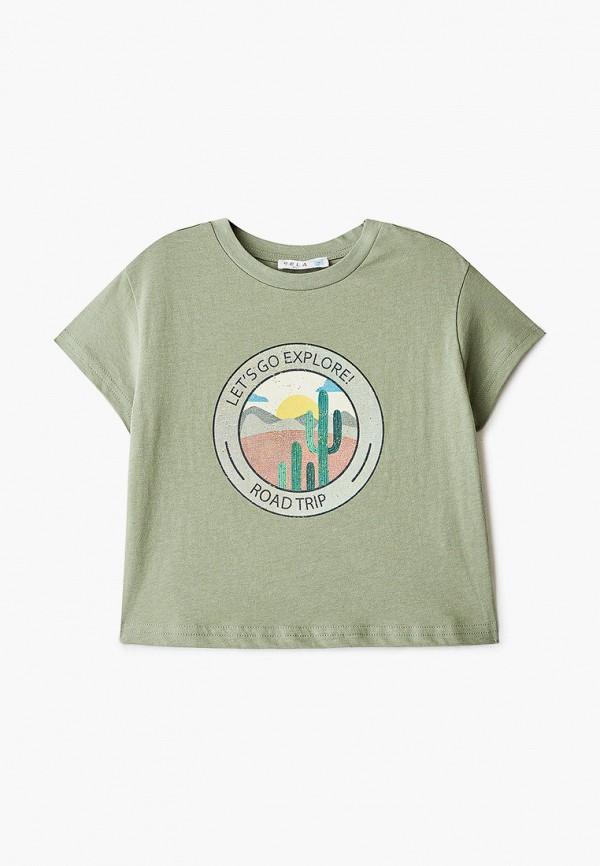 футболка с коротким рукавом sela для мальчика, зеленая