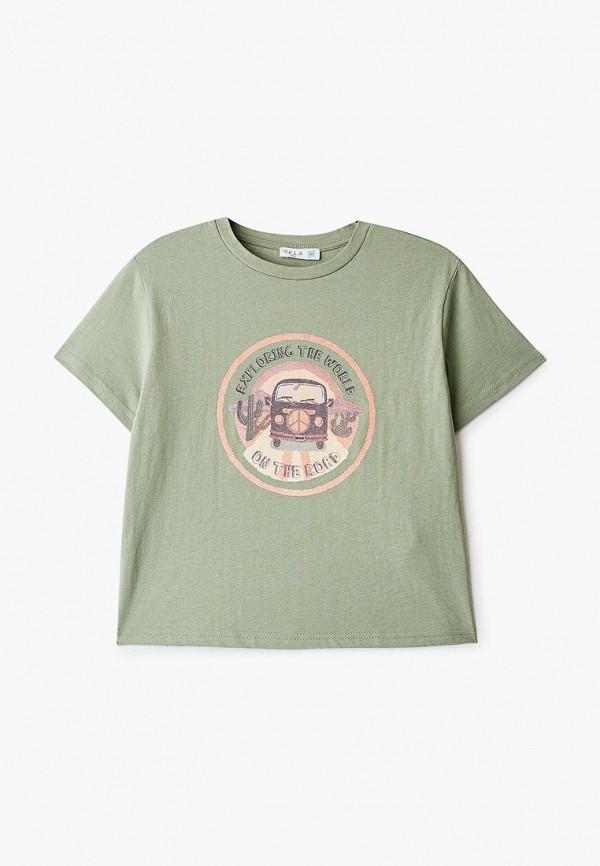 футболка с коротким рукавом sela для мальчика, хаки