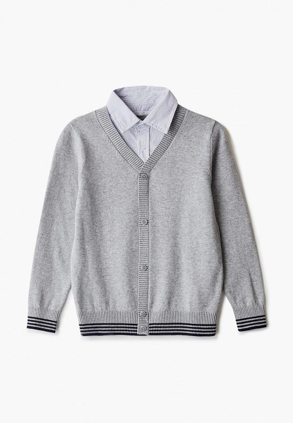 кардиган sela для мальчика, серый