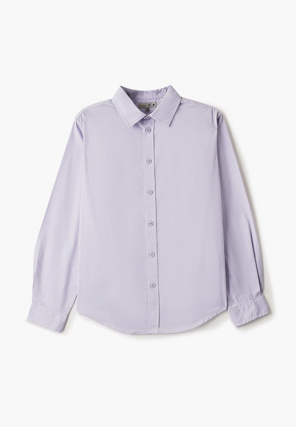 рубашка sela для мальчика, фиолетовая