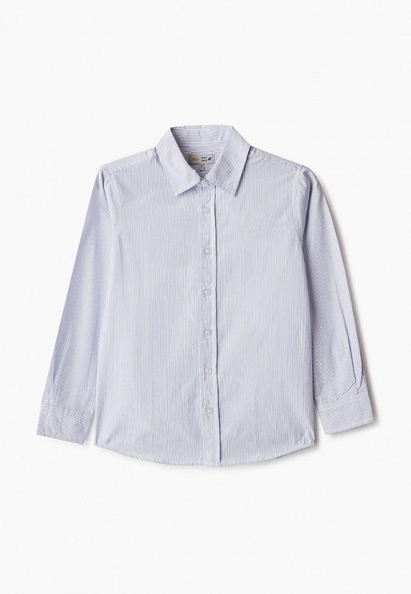 рубашка sela для мальчика, голубая