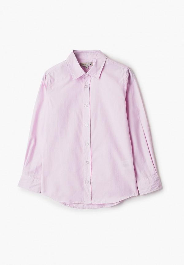 рубашка sela для мальчика, розовая