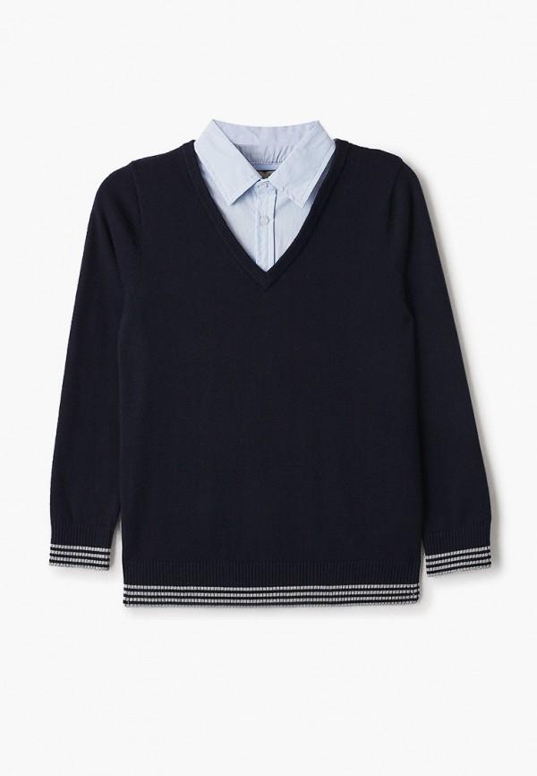 пуловер sela для мальчика, синий