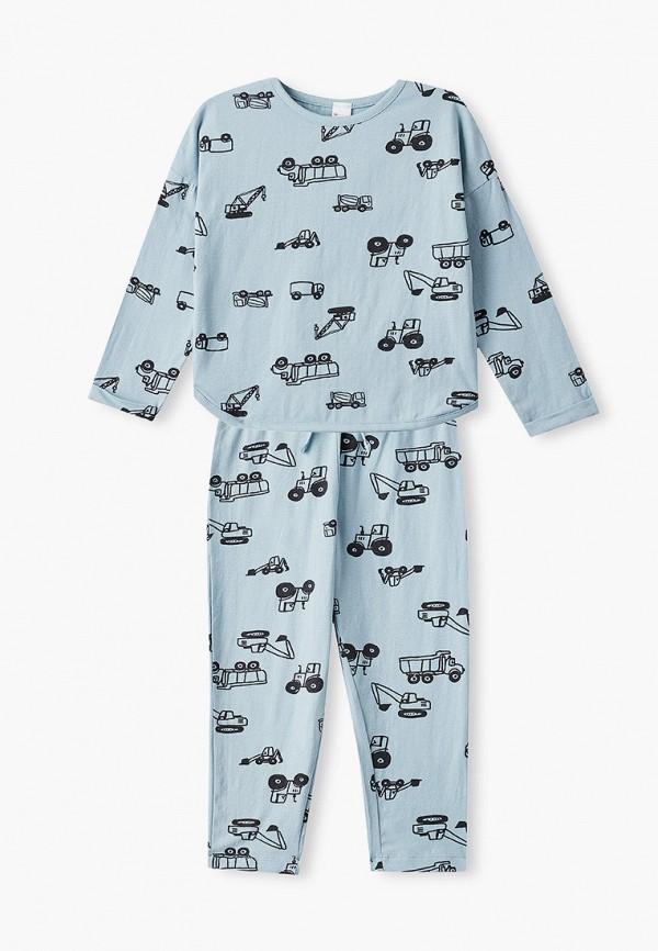 пижама sela для мальчика, бирюзовая