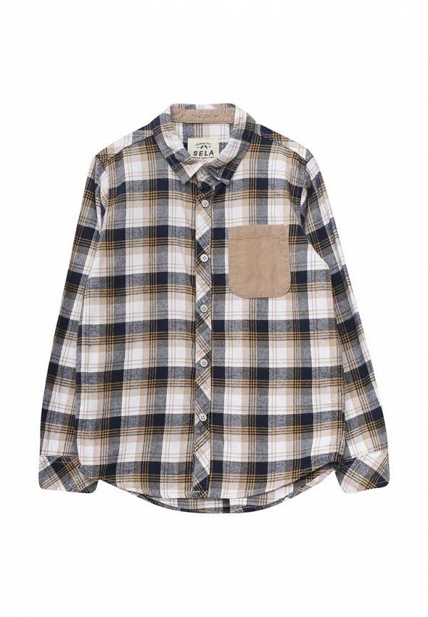 рубашка sela для мальчика, разноцветная